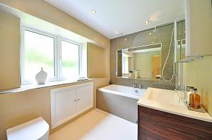 newly renovated bathroom